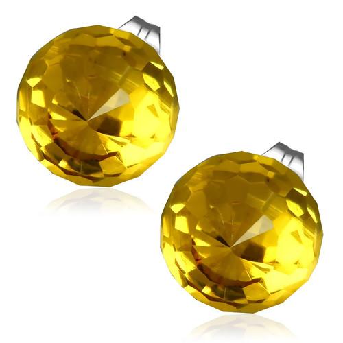 10mm – Tmavě žlutá broušená skleněná kulička