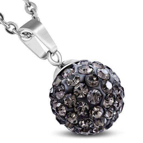 12mm – Černé kuličky s šedými kamínky