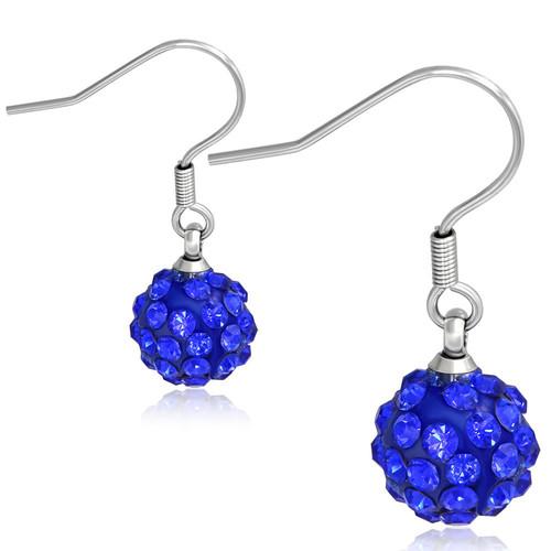 10mm – Modré kuličky s kamínky, afroháček