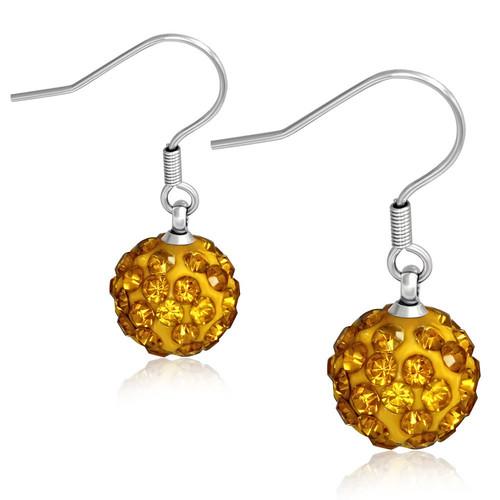 10mm – Oranžové kuličky s kamínky, afroháček