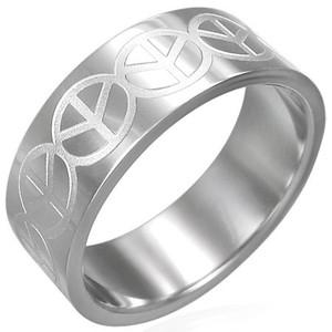 Ocelový prsten - ERA004BA - Velikost 71 (15)
