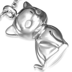 Ocelový přívěsek – kočka