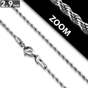 Ocelový řetízek - Pletené 2.9mm