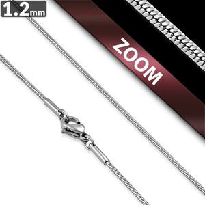 Ocelový řetízek - Had 1.2mm