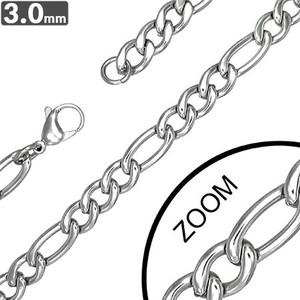 Ocelový řetízek - Figaro 3mm