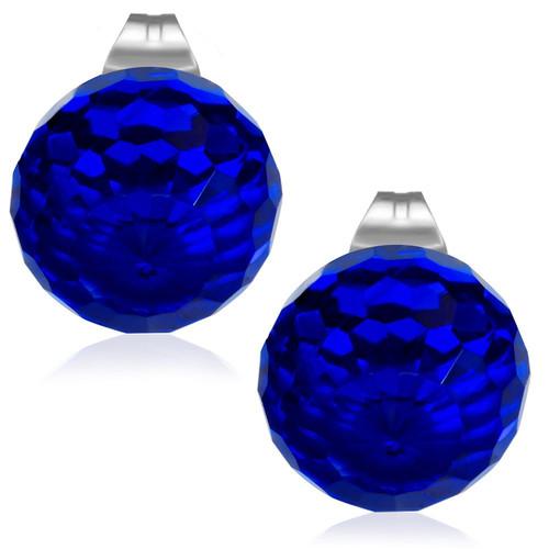 10mm – Tmavě modrá broušená skleněná kulička