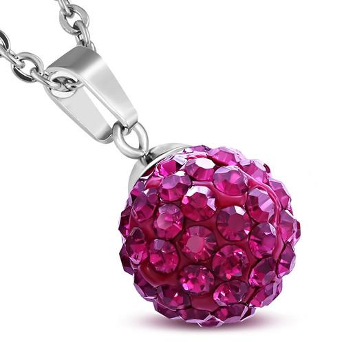 12mm – Růžovo červené kuličky s kamínky
