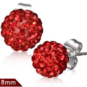 8mm – Rudá kulička s kamínky