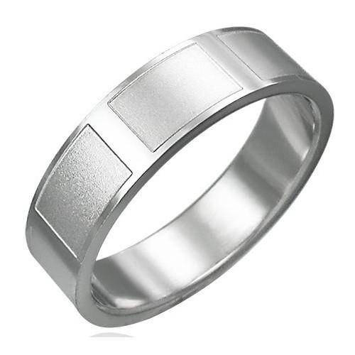 Ocelový prsten - RRK001BA