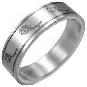 Ocelový prsten - PRB095BA