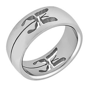 Ocelový prsten motýl