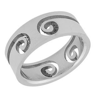 Ocelový prsten spirála