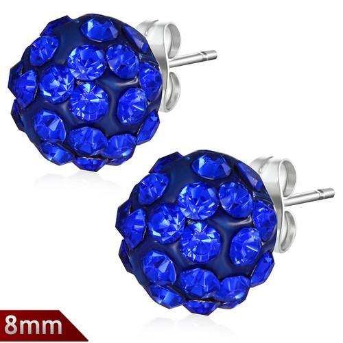 8mm – Tmavě modrá kulička s kamínky