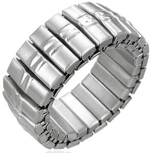 Ocelový prsten - RWS002BA