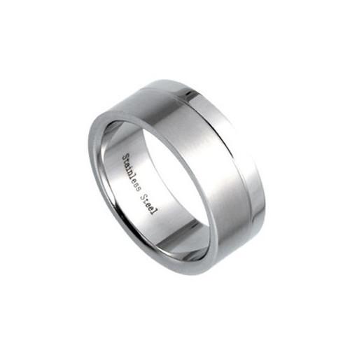 Ocelový prsten s vnějším zůžením a hladším brusem