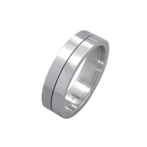 Ocelový prsten - RSST05